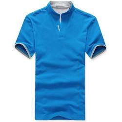 Men cotton blend lapel polo shirt v neck short sleeve shirts mens tops clothes m 3xl.jpg 250x250
