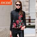 Venda quente Das Mulheres Para Baixo Casaco de Inverno 2016 Nova Moda High-end Impressão Curto Casacos Casacos das Mulheres Senhoras Fino Casaco quente Y116