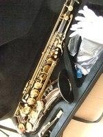 Черный 54 cnbald Saxo тенор бемол Саксофоны Улучшенный музыкальный инструмент износостойкие черный Никель Золотой Саксофон Prof100812