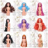 10 Pcs Set 1 6 Doll Head 3D Eyes Antiquity Hairstyle Long Hair Toys For Girl