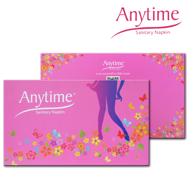 200 Gift Boxes Anytime Sanitary Napkin Hygiene Women Napkins Anion Cotton Sanitary Napkin Medicated Lady SN02