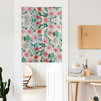 Green Tree Printed Blackout Window Door Curtains For Living Room Bedroom Kids Baby Room Kitchen Home