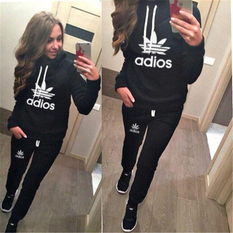 d5acfd6a9dafc New Sport Sweatshirt Tracksuits Spring autumn Hooded Fleece Thick Sport  Suit Women Sweatshirt Sportswear Jogging survetement-in Hoodies    Sweatshirts from ...