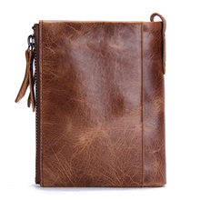 HOT Genuine Crazy Horse Cowhide Leather wallet for him