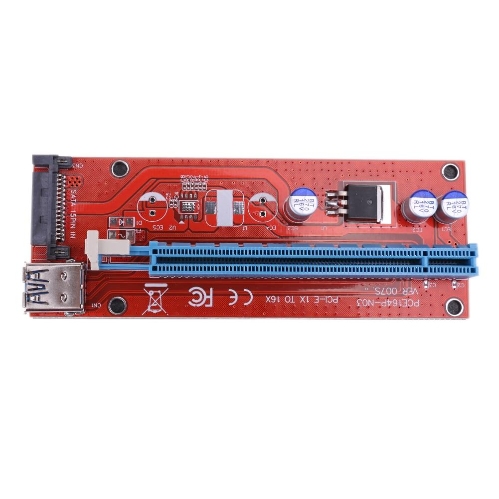 1pc PCI-e 1X to 16X Mini PCI-e Port Graphic Card Extender Board Riser Card USB 3.0 Cable  for BTC Mining Card