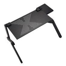 Suporte de mesa portátil ergonômico, mesa dobrável para cama e laptop
