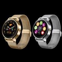 F1 Original Pantalla Táctil inteligente reloj con Monitor de Ritmo Cardíaco Podómetro Ronda MTK2502c SmartWatch Bluetooth Para IOS Android