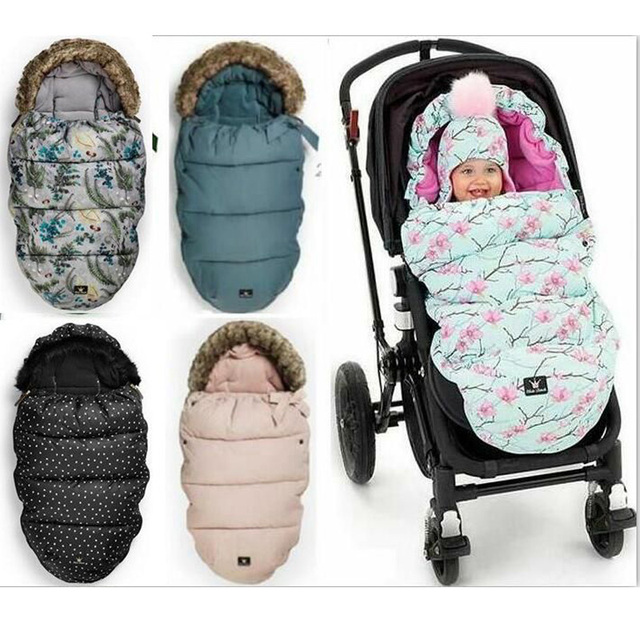 Elo Details Stroller Sleeping Bag Baby Foot With Fake Fur Collar Waterproof Warmer