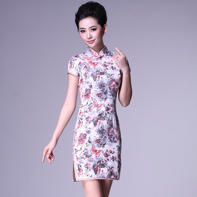 Butterfly vintage cheongsam fashion summer 2013 cheongsam dress g81128