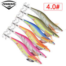 6pc Fishing Lure PRO BEROS Brand Squid Jigs Exported to Usa Market Fishing Tackle 6 color 5.5g--21.56g Fishing Bait 2# Hook(China)