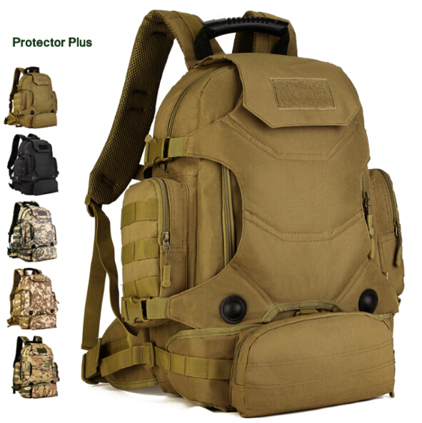 Free Shipping Outdoor Sports Bag 40L Camouflage Nylon Tactical Military Trekking Pack Hiking Cycling Backpack Waist Pack 40l outdoor multifunctional climbing backpack military army tactical molle back pack trekking camping sports travel rucksacks