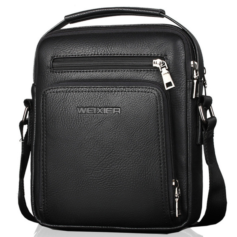 WEIXIER Men/'s PU Leather Messenger Briefcase Bag Crossbody Handbag Shoulder Bag