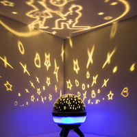 Starry Sky Star Projector Lamp LED Night Light Rotating Ocean Universe Birthday Luminaria Table Lamp Propose Marriage Decoration