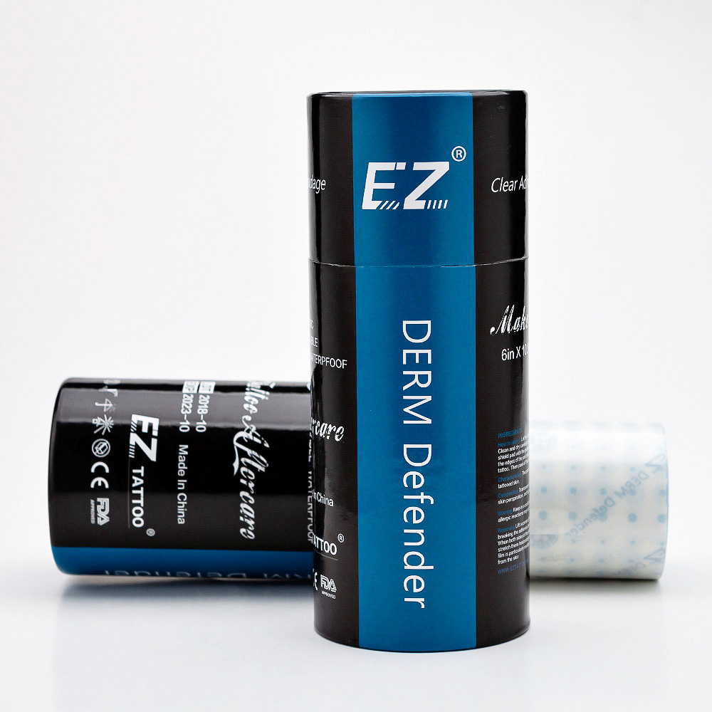 EZ  Premium /Regular  Derm Defender Tattoo Clear Adhesive Protective Shield Protective Tattoo Film Aftercare