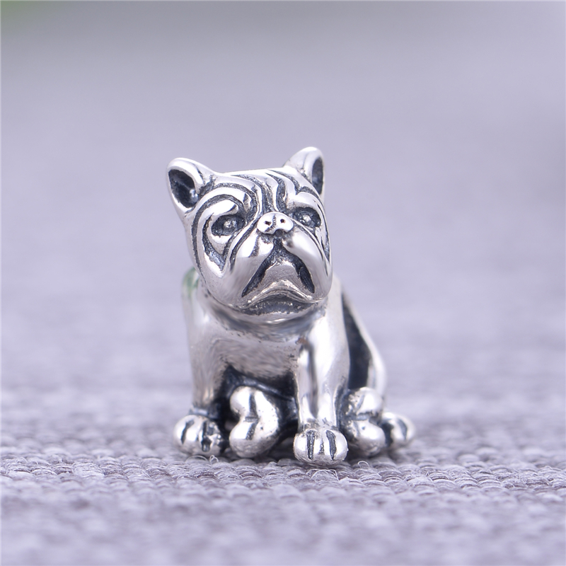 GW Fashion jewelry Big Promotion Dog Charm New Arrival 925 Sterling Silver boncuk DIY Fits European Bracelets T130H10