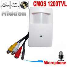 1200TVL CCTV security Camera CMOS Color 960H Motion Detector Indoor CCTV Mini PIR Style Surveillance mini Camera microphone