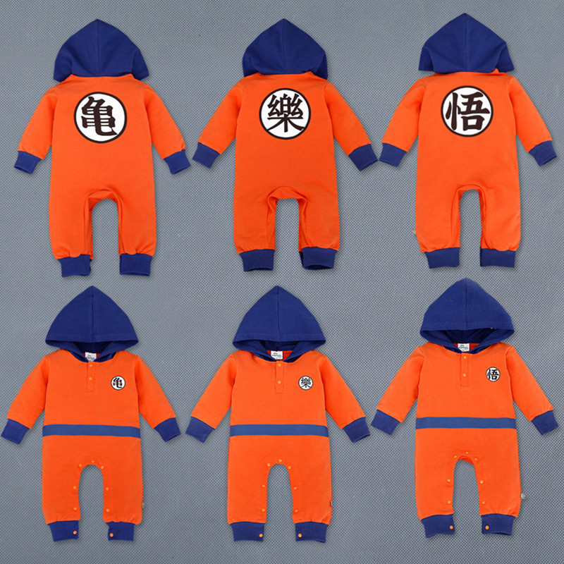 2016 Dragon Ball Z Baby Rompers Newborn Baby Boy Clothes Christmas Costumes Boy Girl Clothing Toddler Girls Halloween Clothes