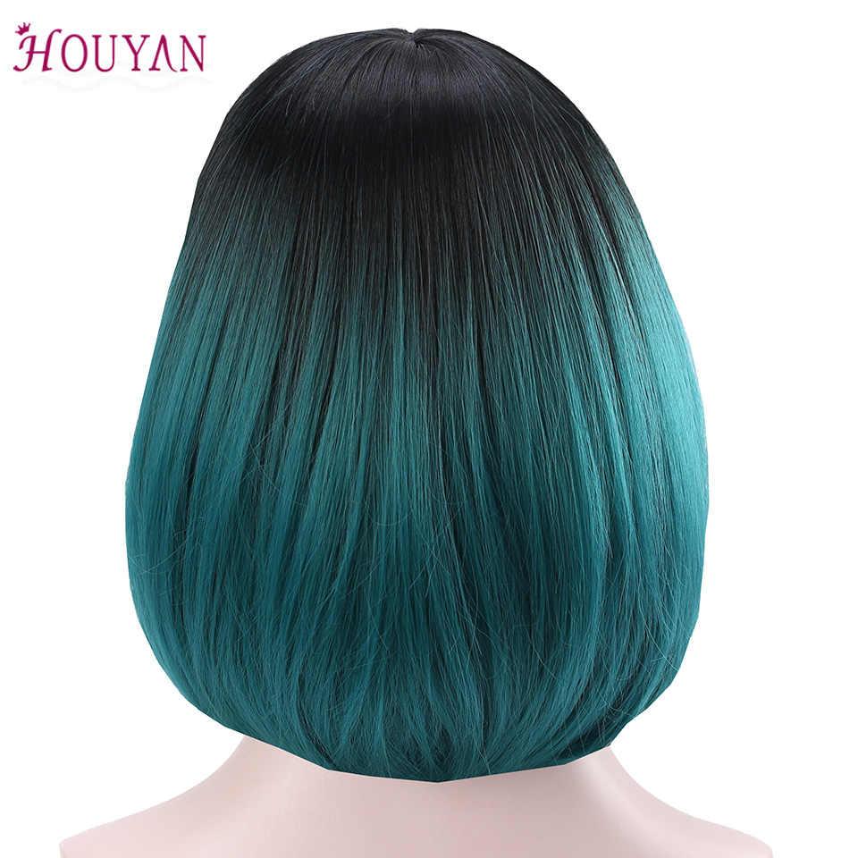 Парики из натуральных волос на коротком кружевном фронте, парик из Боба, полный и толстый для черных женщин, натуральные цвета, аксессуары для волос, бесплатная доставка, хуян