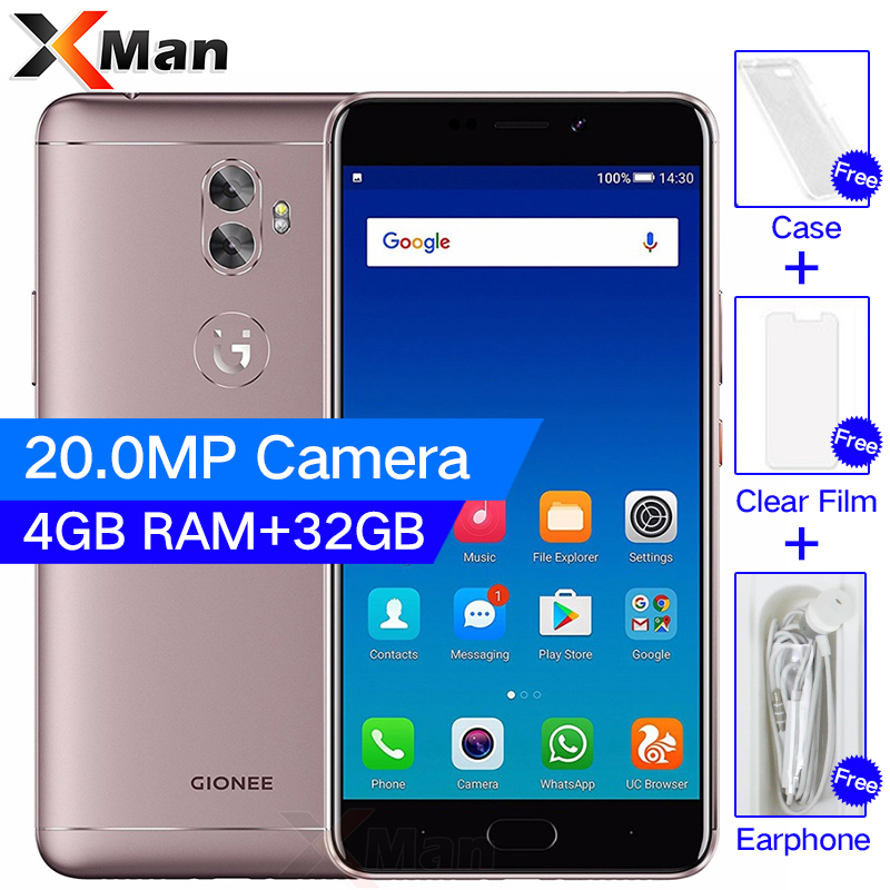 Original Gionee A1 Plus Mobile phone 4G RAM 64G ROM 6.0 Inch 4550mAh Battery 1080P Android 7.0 MTK6595 Octa Core Smartphone