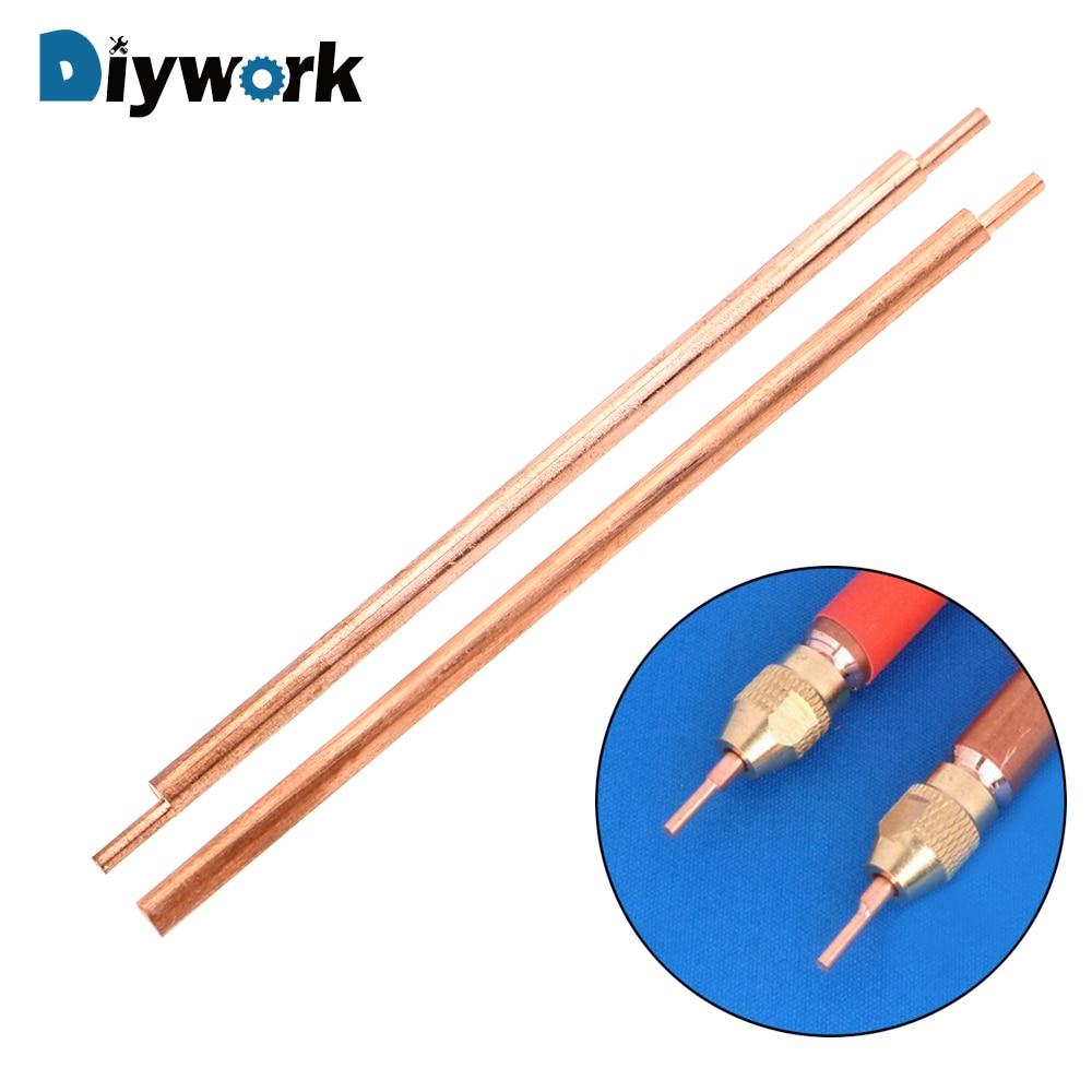 DIYWORK Welding Feet Needle Welder Spot Welding Pin 3 X 80mm Alumina Copper Material Welding Accessories