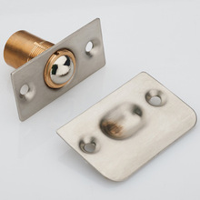 quality Door Stop Magnetic Stopper for bathroom KTV Stainless Steel Closet spring Ball Catch