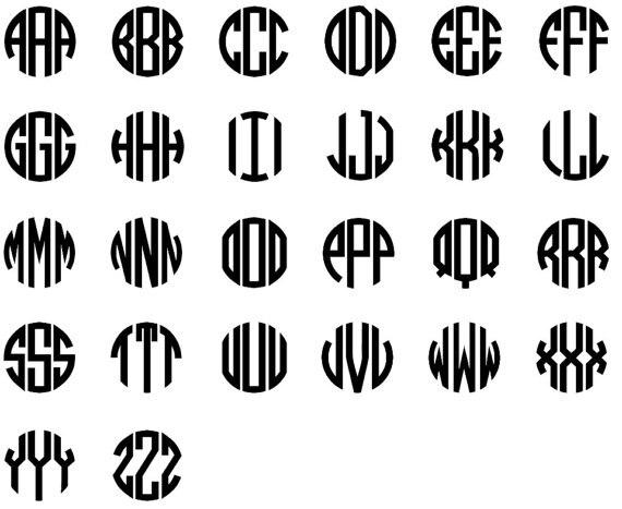 Senfai New Arrival Fashion Circle Three Letter Monogram Trendy