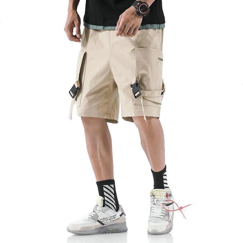 2019 Summer Hip Hop Cargo Shorts Mens Harajuku Joggers Shorts Streetwear Pockets Army Green Cotton Casual Tatical Military Short