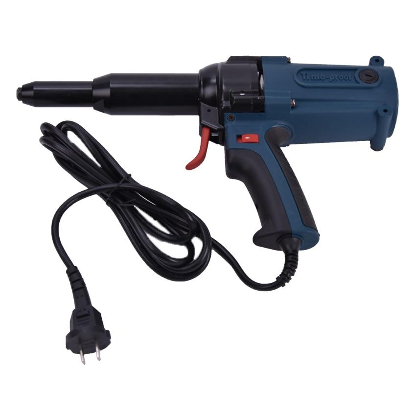 TAC500 220V Электрический клепальный пистолет 8000N электрический пистолет для ногтей 400W