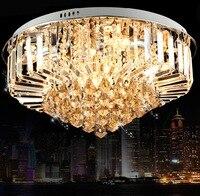 Современные 30 Вт хрустальные люстры потолочные светильники заподлицо E14 галогенные лампы хрустальные люстры AC220v 40/60/80 /100 см Диаметр