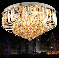 Modern 30w Crystal Chandelier Ceiling Fixtures Flush Mount E14 Halogen Bulbs Chandeliers Crystal AC220v 40/60/80/100cm Diameter