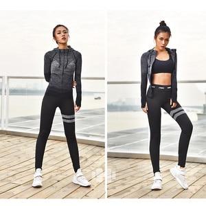 Image 3 - Mermaid Curve Front Zipper hooded Womens Yoga Shirts Long Sleeve Yoga Top Sportswear Quick Dry  Tracksuit Women Running Jacket