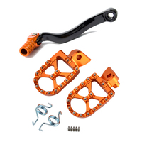 Footrest Gear Shift Pedal Lever for KTM SXF 350 450 505 EXCF SX F 250 EXC SX 125 150 200 Foot Pegs Rest Motorcycle Accessories
