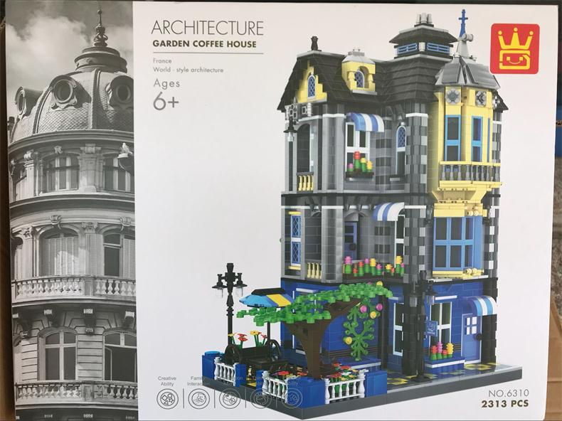 Wange blocks World Architecture Building Bricks French and England style House for children Educational toys Brinquedos Gift