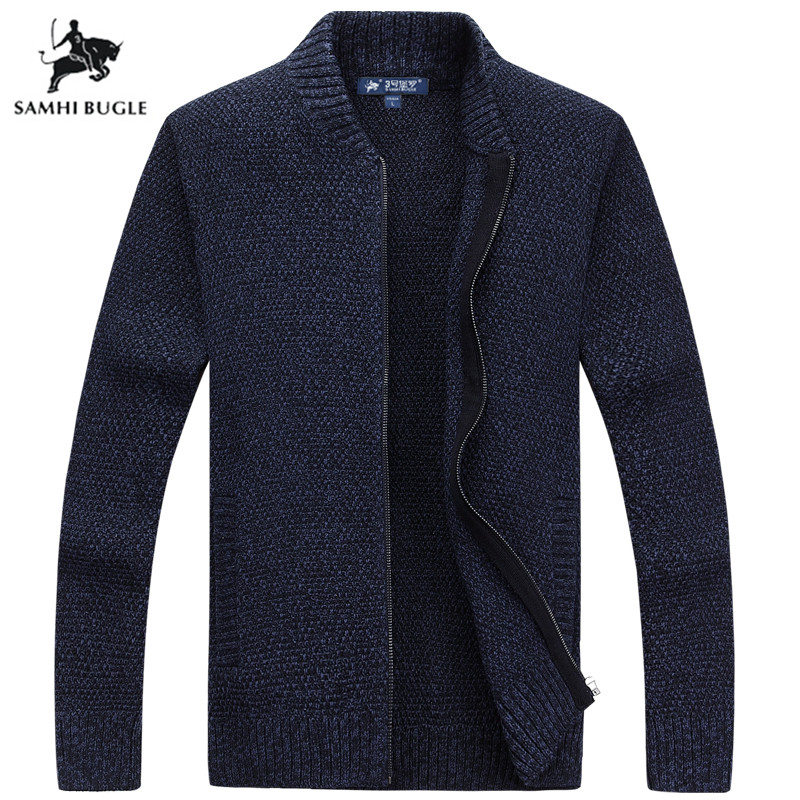 2019 New Autumn Winter Cardigan Sweater Fashion Solid Color Sweater Men Knitwear Slim Fit High Quality Pull Homme