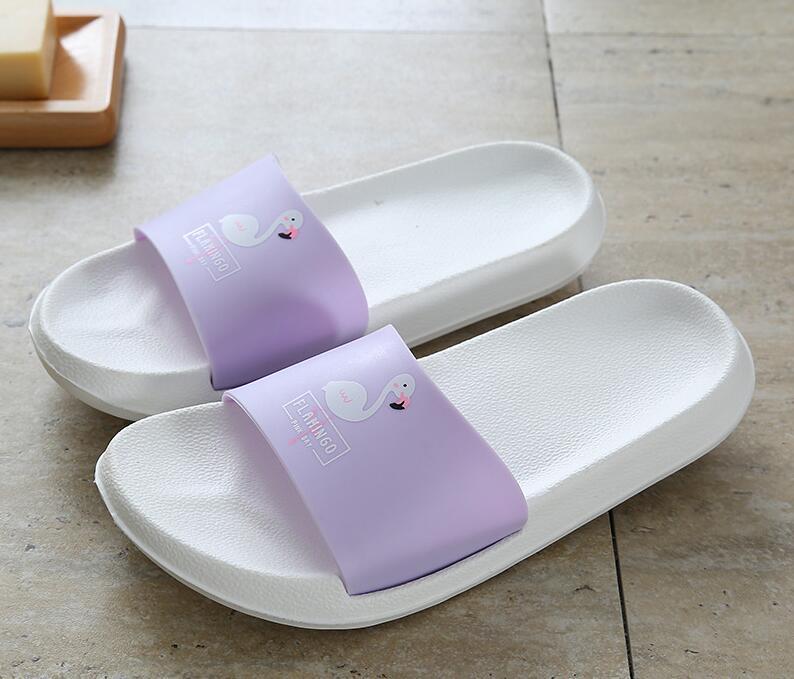 Akexiya Mode Koreanische Frauen Hausschuhe Nette Flamingo Sommer Gleitet Slip Auf Strand Hausschuhe Plattform Sandalen Frauen Schuhe Flip-flops Tropf-Trocken