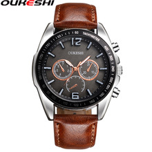 OUKESHI Brand Fashion Wrist Watches Luxury Men Business Watch Male Waterproof Quartz Watch Reloj Mujer Relogio Masculino Gift