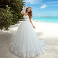 Vestidos Novias Custom Made Off The Shoulder Beach Wedding Dresses With Belt Sweetheart Appliques Vintage Lace Bridal Dresses