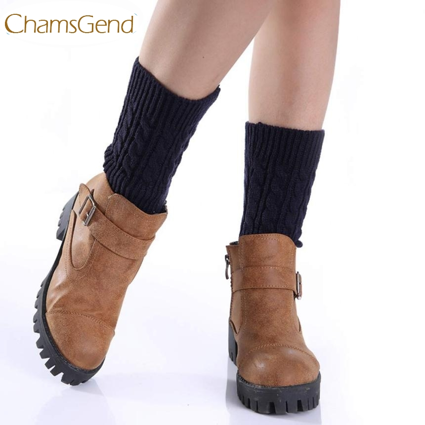 Chamsgend Newly Design Womens Knit Short Leg Warmers Boot Cuffs Oct22 Drop Shipping
