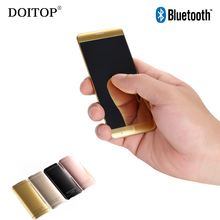 Big discount DOITOP Untra Thin Smart Mobile Phone 1.63 inch Touch Screen Key Dual Band Single SIM Cellphone Bluetooth Radio MP3 MP4 Player O5