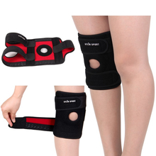 Metal spring professional sports Knee Pads   running knee climbing  breathable slip  outdoor basketball brace riding цена