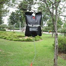 Solar Energy Heated Camp Shower Bag PVC Water Bag 20L / 5 Ga