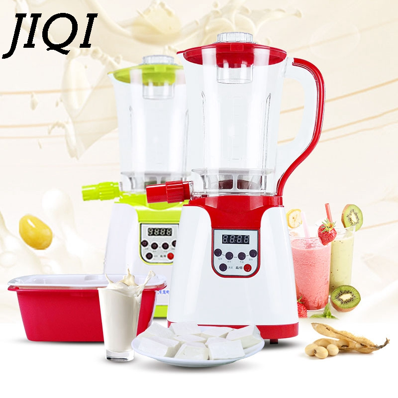 JIQI Automatic soymilk maker Grinding Machine Soya-bean Milk Tofu Brain Peanut Milling Soybean miller Electric Juicer EU US plug цена и фото