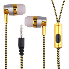 Professional KY-38 Color Cloth Line Heavy Bass Sound In Ear Music Earphones Universal Mobile Phone Headset