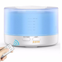 Ultrasonic Humidifier Aroma Essential Oil Diffuser 500ml Cool Mist Remote For Home Office Bedroom Living Room