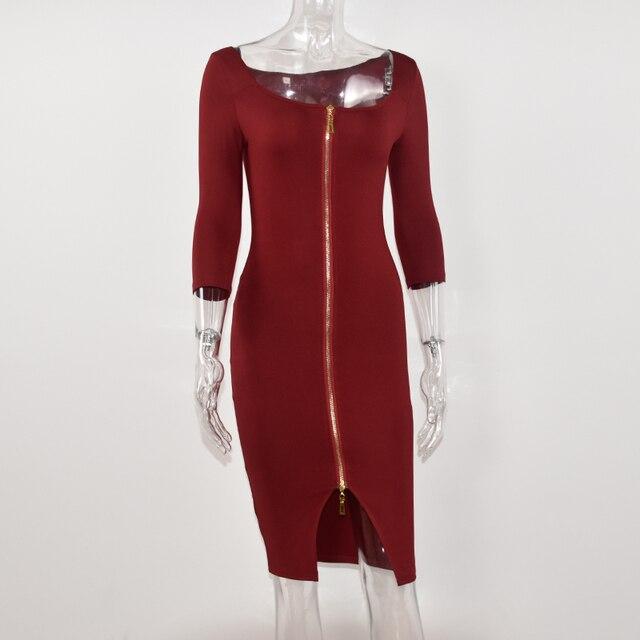 Club Low Cut Bodycon Dress 1