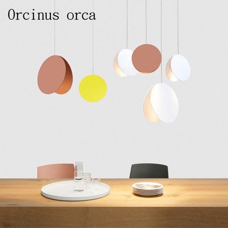 Nordic Modern Minimalist Single Chandelier Restaurant Bar Bedroom Coffee Shop Creative Personality Iron Lamp Free Shipping