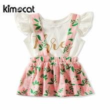 Kimocat/Летняя одежда для маленьких девочек короткая хлопковая
