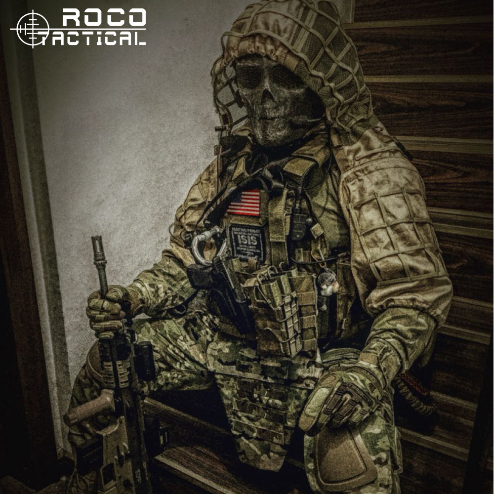 ROCOTACTICAL Ghillie Hood Jacket Foundation Combat Military Sniper Camouflage Woodland
