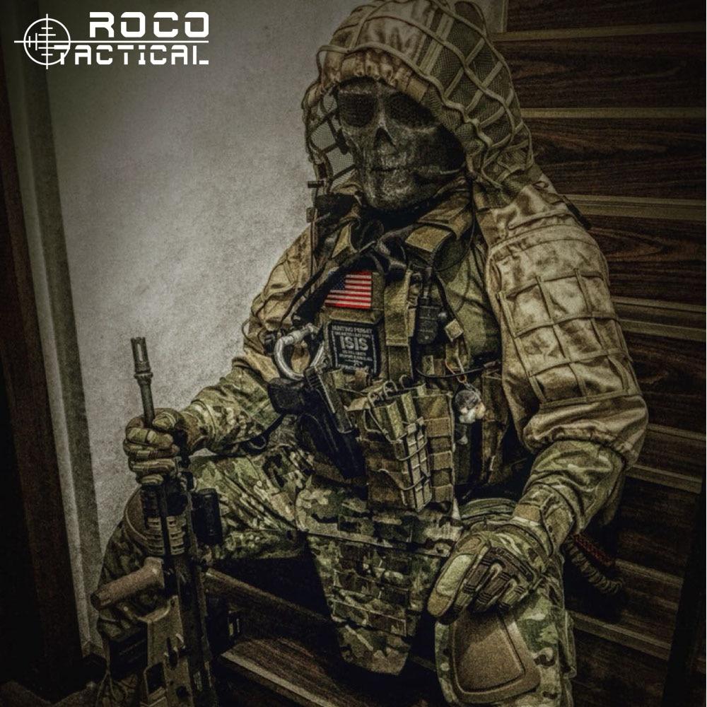 ROCOTACTICAL ทหาร Sniper Ghillie Viper Hood Combat Ghillie สูท Foundation Custom Ghillie Hood เสื้อแจ็คเก็ต Woodland