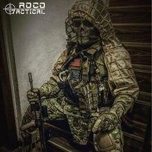Rocotactical militar sniper ghillie viper capuz combate ghillie terno fundação personalizado ghillie capuz jaqueta camuflagem floresta